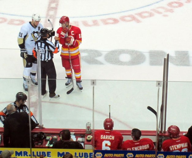 Calgary Flames Penalty Box Home Openener Saddledome October 8, 2011