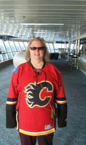 Tina on the Bridge of the Cruise Ship Celebrity's Constellation