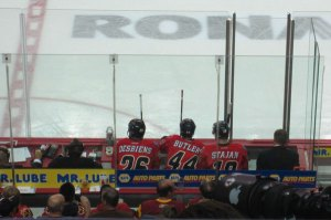 Calgary Flames Desbiens in Penalty Box