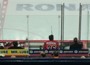 Flames Desbiens Penalty Box
