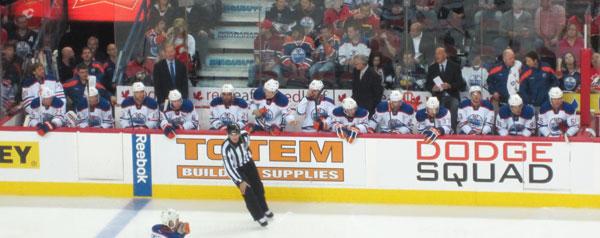 Edmonton Oilers Bench