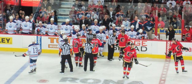 Edmonton Oilers and Calgary Flames at the Saddledome October 2011