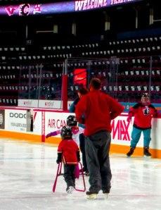 Skating at the Saddledome