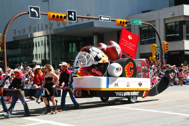 Calgary Flames Float in the Stampede Parade 2012