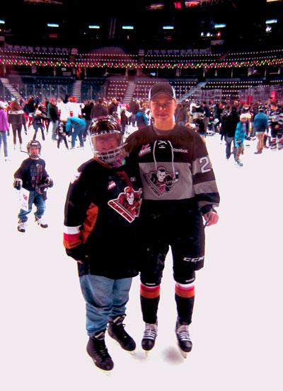 Skating with Calgary Hitmen