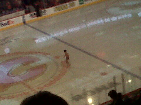 Streaker at Flames v Sharks game 6/3/2013 - 2nd Intermission